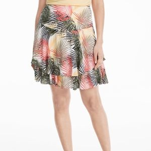 NWT Soft Tiered Tropical Palm Print Skirt, Size 0